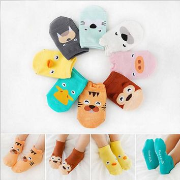 Unisex New born Baby Socks Kids floor sock boys socks girls kids Children cutu animal duck tiger monkey pattern socks cotton