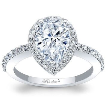 Barkev's Pear Cut Halo Diamond Engagement Ring