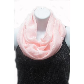 Anchor pink infinity scarf
