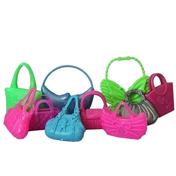 10PCS Various Mini Doll Bags Toy Accessories Cute Morden Bags For Barbie Doll Birthday Gift