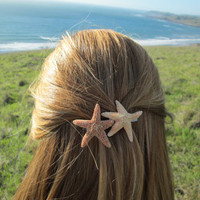 Starfish Duo Barrette by bearinmyhair on Etsy