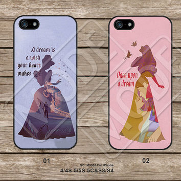 Disney princess,Phone Cases iPhone 5C Case iPhone 5S case iPhone 4 Case Samsung Galaxy S3 Galaxy S4 Galaxy S5 Note 2 Note 3  M5305