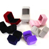 1 PC 8 Colors Fashion Black Red Purple Grey Coffee Square Velvet Jewelry Earring Ring Necklace Package Display Case Box Holder
