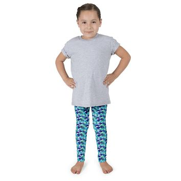 Kid's Mermaid Leggings Blue Sea