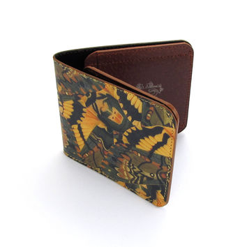 Leather Wallet - Hawkmoth