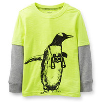Neon Layered Penguin Tee