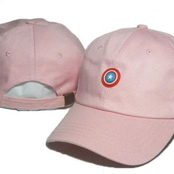 Day-First™ Pink Captain America Embroidered Baseball Cap Hat
