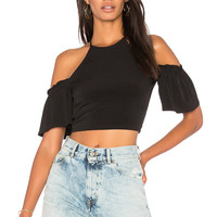 BCBGeneration Off Shoulder Crop Top in Black | REVOLVE