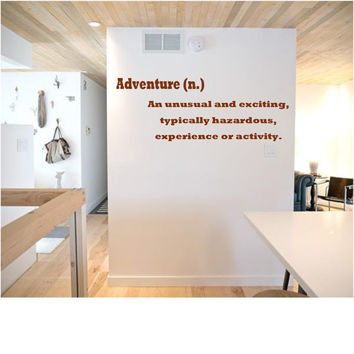 Adventure Definition Wall Decal