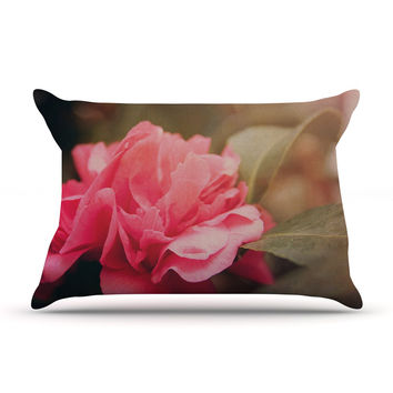 "Angie Turner ""Camelia"" Pink Flower Pillow Sham"
