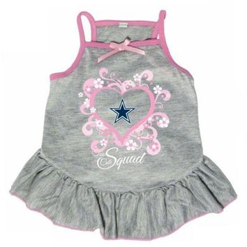 PEAPYW9 Dallas Cowboys 'Too Cute Squad' Pet Dress