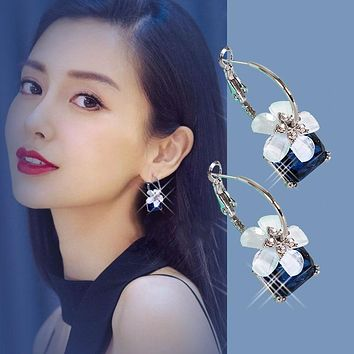 Korean Style Crystal Cherry Earrings