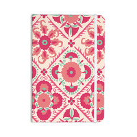 "Laura Nicholson ""Bukhara Coral"" Pink Floral Everything Notebook"
