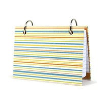 Index card binder for personal goals in bright colors stripes 382