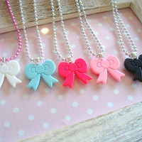 Cute Hello Kitty Bow Necklace 1pc Choose by Wonderfullmoments6