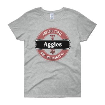 Texas A&M Aggies: Women's Lager Label-Inspired short sleeve t-shirt; up to 3XL