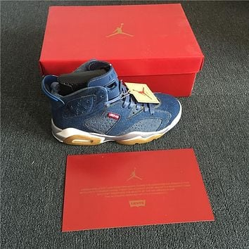 Air Jordan 6 x Levis Blue Denim