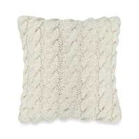 The Vintage House by Park B. Smith® 12-Inch Sqare Classic Cable Decorative Throw Pillow