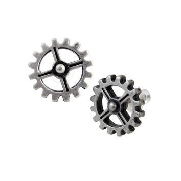 Alchemy Gothic Industrilobe Steampunk Earrings Gears Cogs
