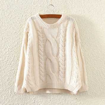 Pullover Knit Tops Winter Split Sweater Jacket [8115658881]