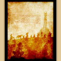 THE FELLOWSHIP lotr lord of the rings modern print poster grunge