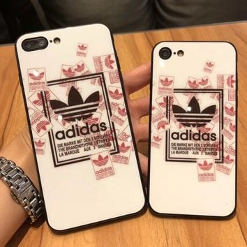 Adidas Hot ! iPhone 7 iPhone 7 plus - Stylish Cute On Sale Hot Deal Matte Couple Phone Toughened Glass Case For iphone 6 6s 6plus 6s plus