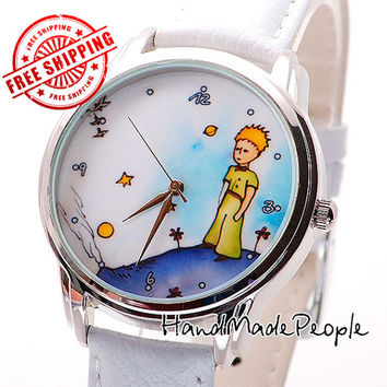 Little Prince Wristwatch, Antoine de Saint-Exupery Le Petit Prince Wrist Watch for Men and Women, Leather Watch, Gift Idea - Free Shipping