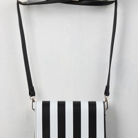 Contrast Striped Crossbody Clutch Bag
