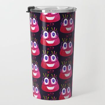 Cute Geek Mathematician Watercolor Candy Travel Mug by borianagiormova