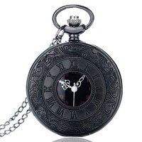 Obsidian Black Pocket Watch