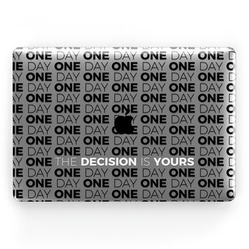 One Day or Day One (Black) // Crystal Clip-On MacBook Case