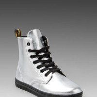 Dr. Martens Leyton 7-Eye Boot in Silver from REVOLVEclothing.com