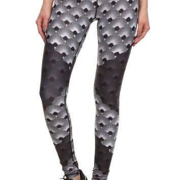 70's Fan Dream Leggings - Monochromatic