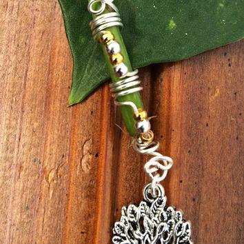 Tree of life dreadlock accessories loc adornments silver wire dread charm hair falls