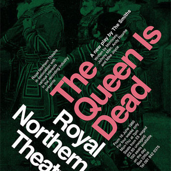 The Smiths 'The Queen Is Dead' Theatre Poster Literary Print The Plays of Morrissey and Marr