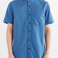 Koto Short-Sleeve Mandarin Collar Button-Down Shirt
