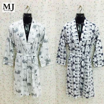 Japanese Kimono Men Peignoir Homme Badjas Albornoz Hombre Men's Bathrobe For Men Kimono Bathrobes Bath Robe Dressing Gown Men