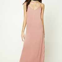 Satin V-Neck Cami Dress