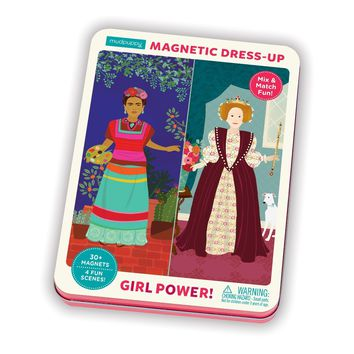 Girl Power Magnetic Dress Up Doll Figure Set in Gift Tin