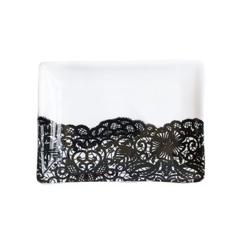 Black Lace Jewelry Dish