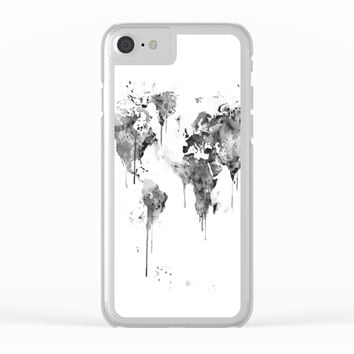 World Map Clear iPhone Case by MonnPrint