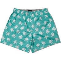 HUF Teal Plant Life Boxers |  Hypebeast Store