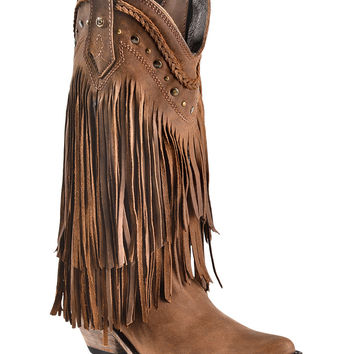 Liberty Black Vegas Fringe Boots - Pointed Toe - Sheplers