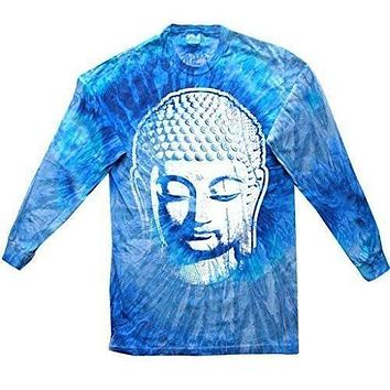 Yoga Clothing for You Mens Big Buddha Head Long Sleeve Tee Shirt