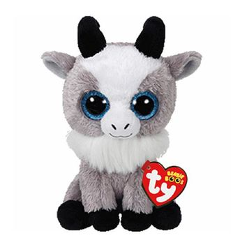 "Ty Beanie Boos Stuffed & Plush Animals Goat Name Gabby Toy Doll With Tag 6"" 15cm"