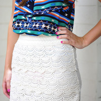 It's So Lacy Skirt: Ivory             | Hope's
