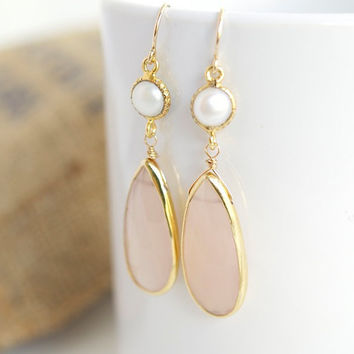 Pink Chalcedony Dangle Earrings  Chalcedony and by Jewels2Luv