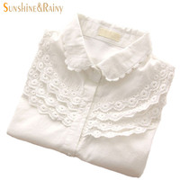 Women Blouse Long Sleeve Crochet Cotton100% Camisas Blusa Femininas Casual Ladies White Shirts Work Tops Shirt Clothing Wear