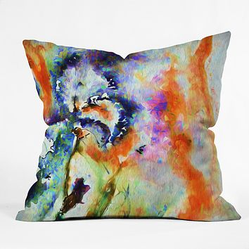 Ginette Fine Art Blue Iris Passion Throw Pillow