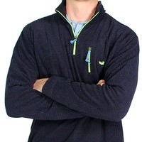 FieldTec Dune Pullover in Navy with Electric Lime by Southern Marsh